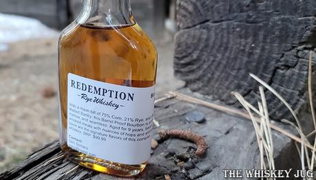 Redemption 9 Year Barrel Proof Bourbon Label