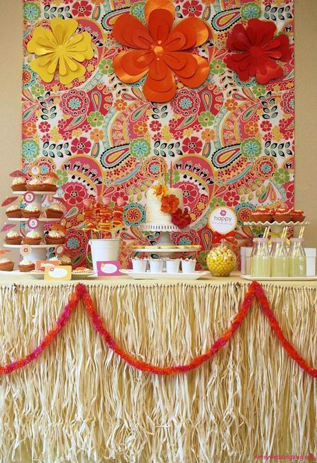 luau themed bridal shower