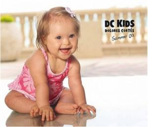 Model With Down Syndrome to Head Up Kids Swimwear Catalog