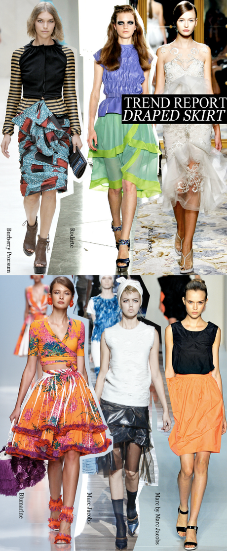 Newest Trend Report: draped skirts.