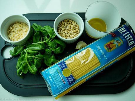 Ingredients for Pesto Linguine