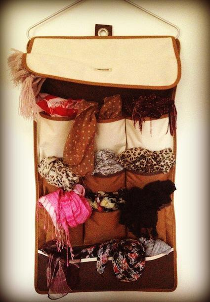 Simple Scarf Storage Solution