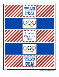 Olympics Party Water Bottle Wrappers