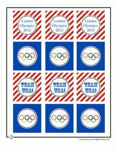 Olympics Party Printable Cupcake Toppers