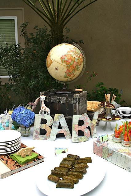 Around the World Themed Baby Shower by Sweet Pop Studio