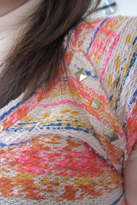 OOTD|| Zara multi-coloured knitted T-shirt