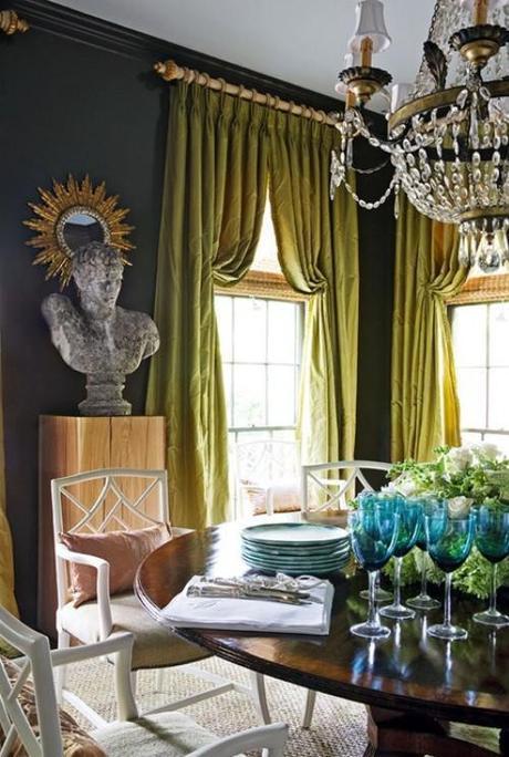 Interior Design Dining Room Decor Draperies