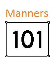 Toilet talk! - MANNERS 101 Tells It Like It Is!