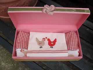 Decorated gift box & card