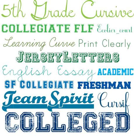 college paper font