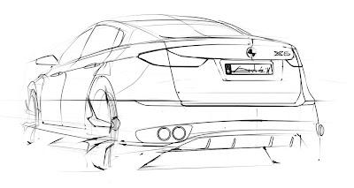 Car Sketch Rear 3/4 View By Andru00e9 - Paperblog