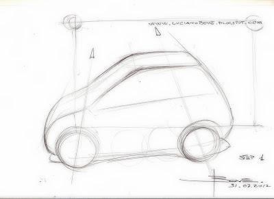 Car sketch tutorial top perspective by Luciano Bove