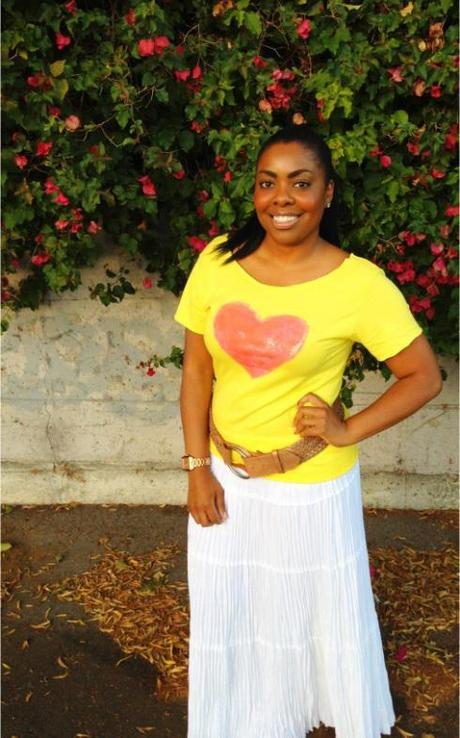 DIY: The Pink Heart T-shirt