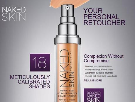Urban Decay Unveils NAKED Skin – Zero SPF in an Ultra Defining Foundation, Awesomesauce….