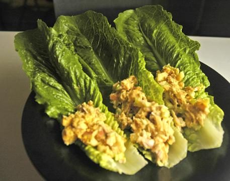 Cats and Curried Tuna Lettuce Wraps
