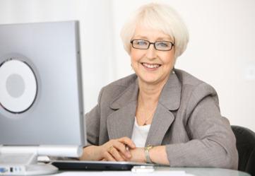 Professional senior businesswoman portrait