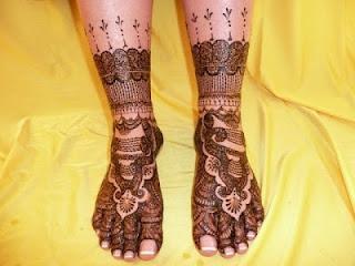 Mehndi Designs For Legs New : Mehndi designs for legs & foot paperblog