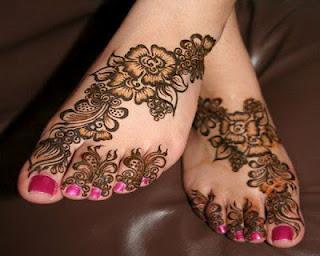 Mehndi Legs Images : Mehndi designs for legs & foot paperblog