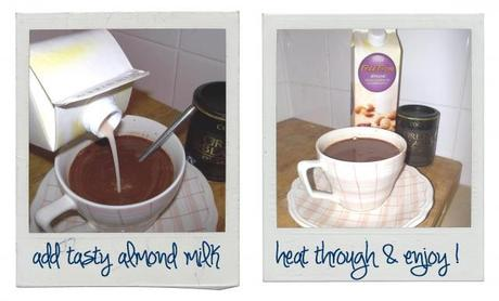 Drizzly day recipe – yummy almond hot chocolate!