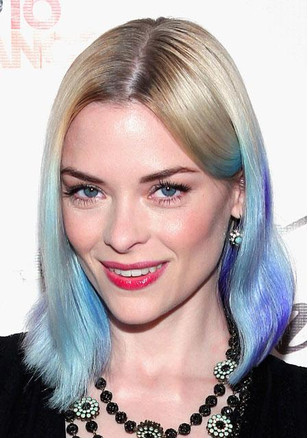 0326 jaime king blue hair color bd Celebrity Trend: Dip Dyed Ends