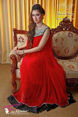 Women S Evening Wear Red Amp Black Combination Dresses