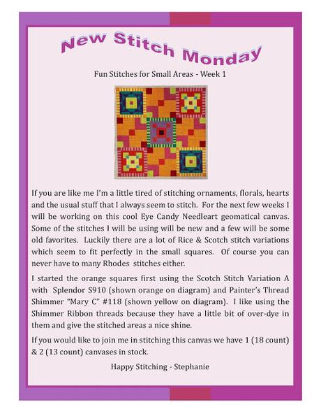 New Stitch Monday With Ridgewood Needlepoint!