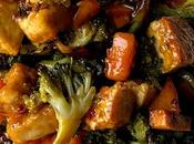Broccoli, Sweet Potato Crispy Tofu Sheet Dinner