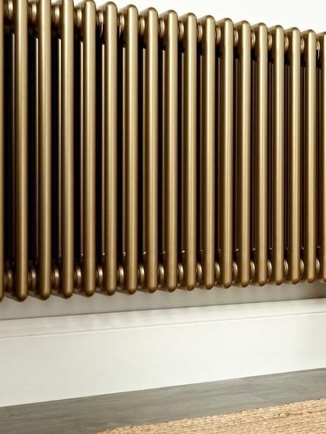 metallic radiator close up