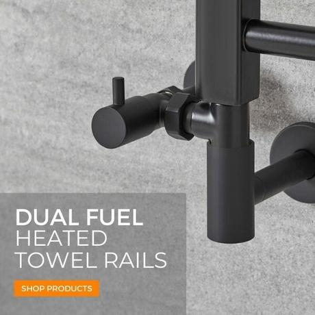 dual fuel heated towel rails banner