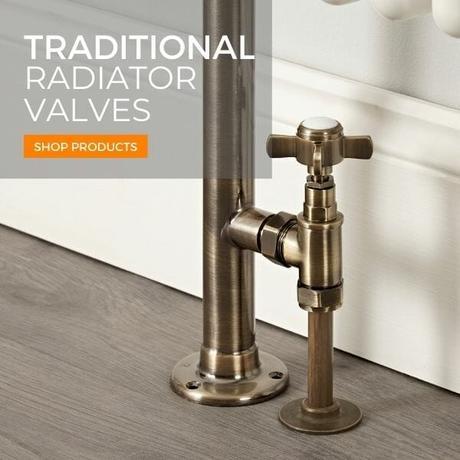 traditional radiator valves close up