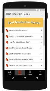 Beef tenderloin has silver skin, which is a thick layer of white (sometimes silvery) connective tissue running along its surface. Beef Tenderloin Recipe For Android Apk Download
