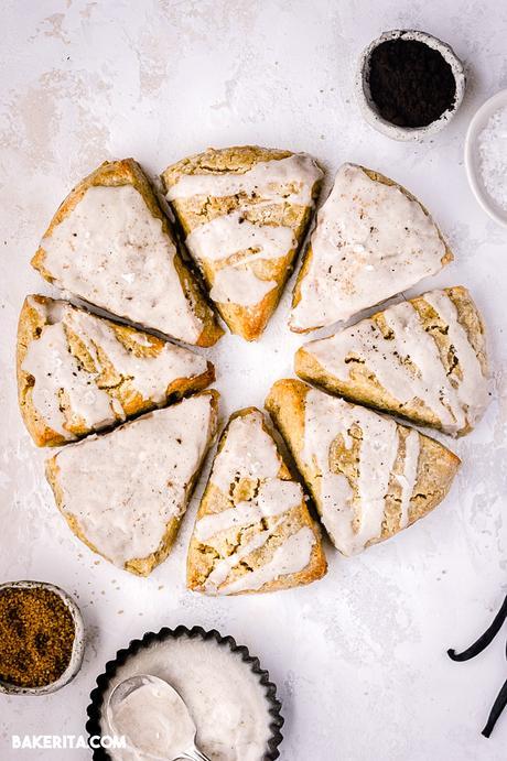 Gluten-Free Vegan Vanilla Scones