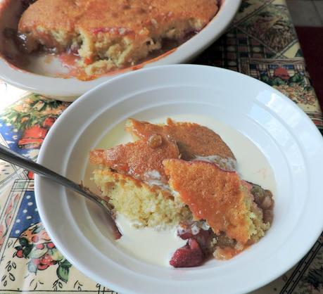 Raspberry & Rhubarb Eve's Pudding