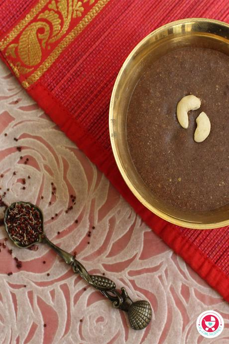 Ragi kheer for babies [ Finger-Millet Pudding| Ragi payasam] is highly nutritious and helps in increasing the bone strength and prevents anemia!