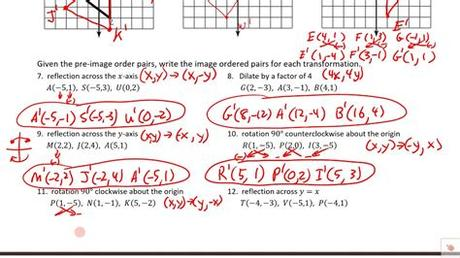 By which congruency criterion, the two triangles in fig. PRACTICE TEST Unit 11 Transformations of Figures ...