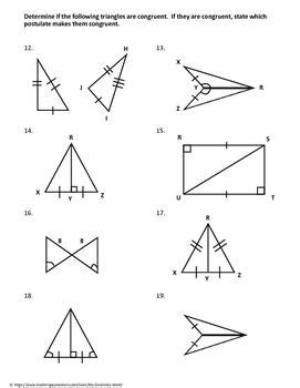 Students sides are congruent and all corresponding pairs of  explain how the criteria for triangle congruence (asa, angles are congruent. Geometry Test Review: Congruent Triangles by My Geometry ...