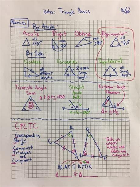 If we reverse the angles and the sides, we know that's also a congruence postulate. Unit 2 Triangle Congruence - Math Sheaffer