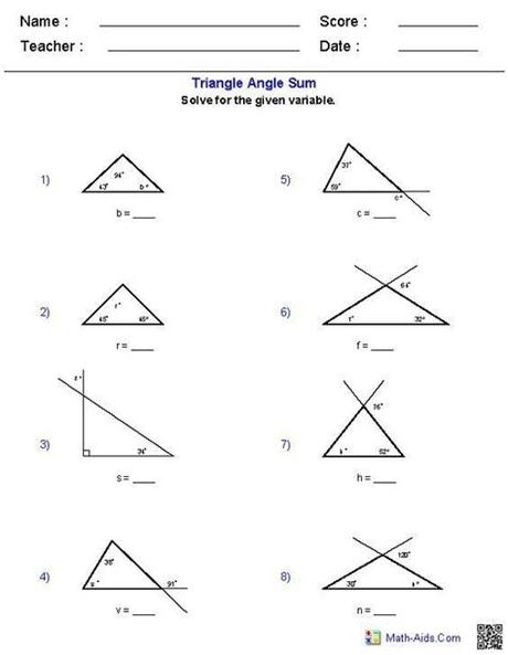 State a sequence of transformations that will map one triangle onto the other. Triangle Congruence Worksheet Answer Key Triangle Angle ...