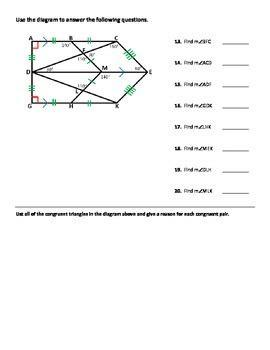 .sheet 12/16 12 unit 6 test 2 lesson 1: Triangle Congruence Worksheet - Practice Problems by Dr ...