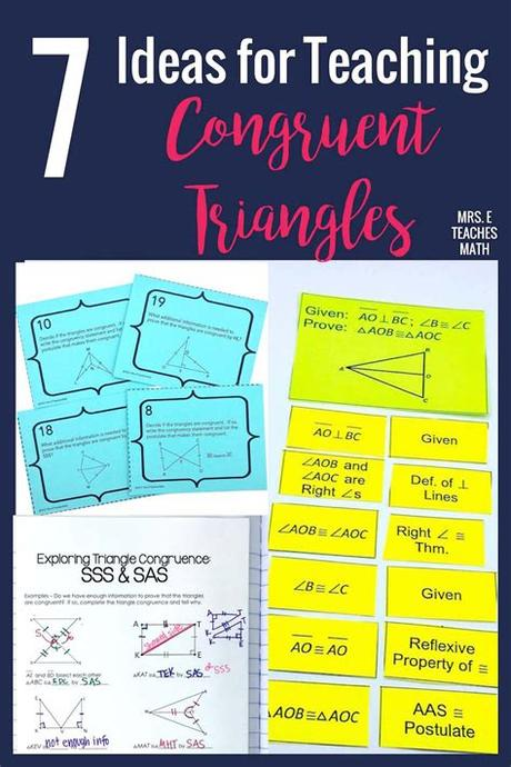 Given that dabc @ dxyz, identify and mark all of the congruent corresponding parts. 7 Ideas for Teaching Congruent Triangles   Mrs. E Teaches Math