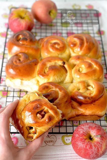 super soft apple cinnamon scrolls less sugar apples loaded