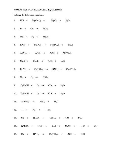 Reaction predictions 3 is a much shorter review worksheet. 14 Best Images of Balancing Chemical Reactions Worksheet ...