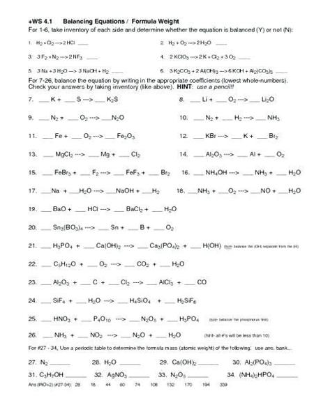 Which reaction can be described as having oxygen in the reactant and water in the product, what type of reaction has one large molecule break down into two smaller molecules, what type of reaction is the following equation questions responses. Types Of Chemical Reaction Worksheet Ch7