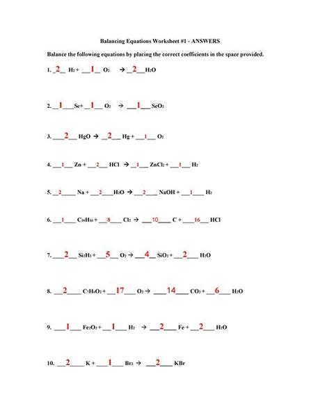 Combination or synthesis chemical reaction. balancing equations worksheet - DriverLayer Search Engine