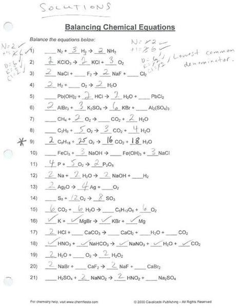The character of worksheet 3 balancing equations and identifying types of reactions answers in studying. Balancing Chemical Equations Practice Worksheet Answer Key ...
