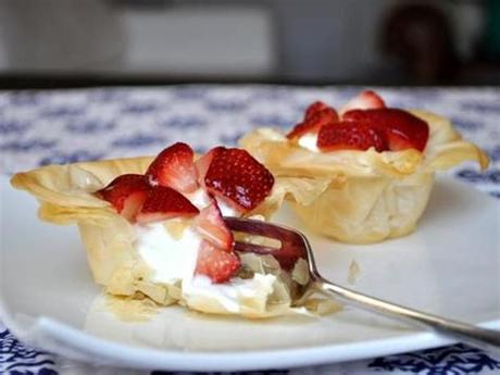Keep phyllo covered until needed. From the Archives: Greek Yogurt and Strawberry Phyllo Cups ...