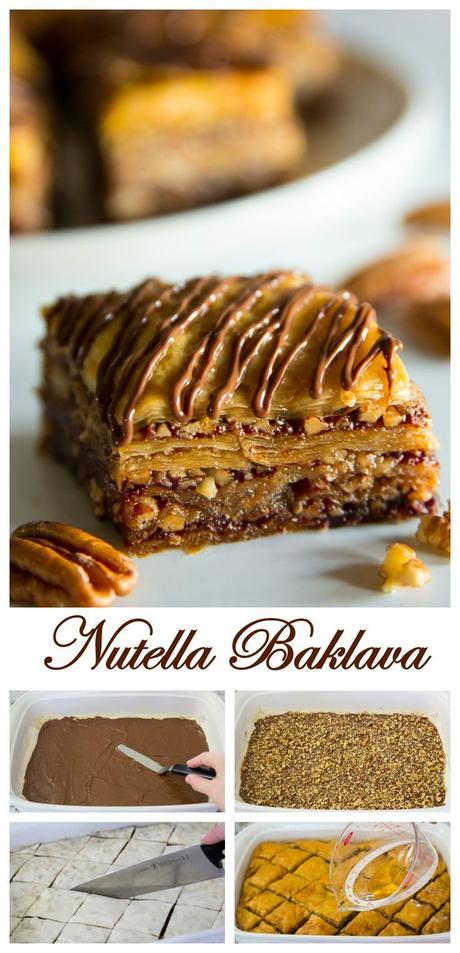 Crunchy buttered phyllo dough layered between Nutella and ...