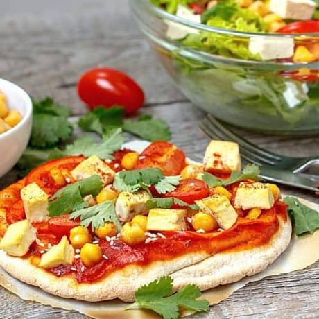 Tofu pizza