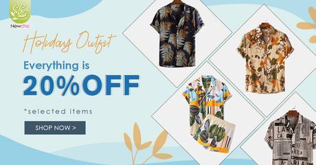 Newchic Spring Summer Sale Holiday Shirts ForMen