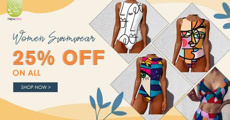 Newchic Spring Summer Sale - Abstract Swimsuits